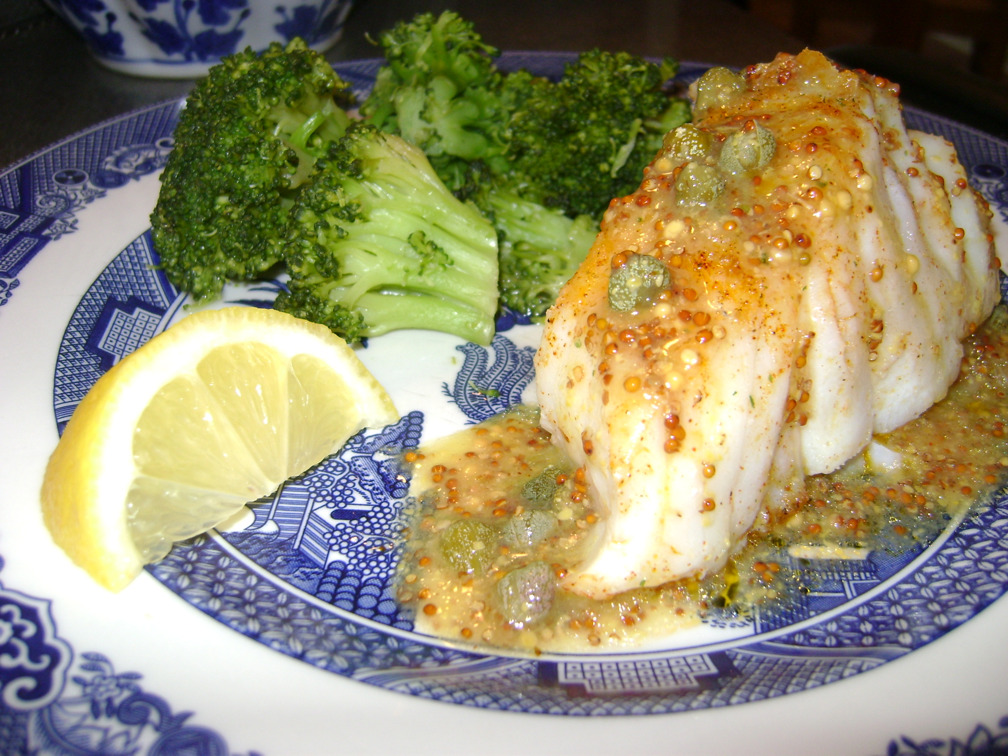 pan fried cod with mustard caper sauce the prime pursuit