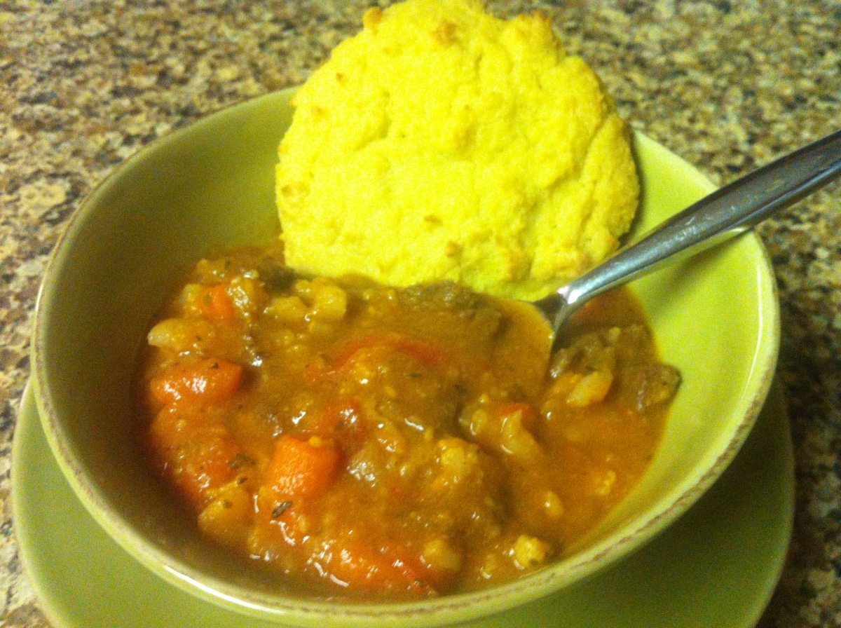 Winter's Night Beef Stew and Biscuits