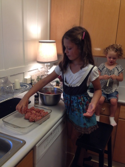 Meatballs are a great meal for kids to help with!