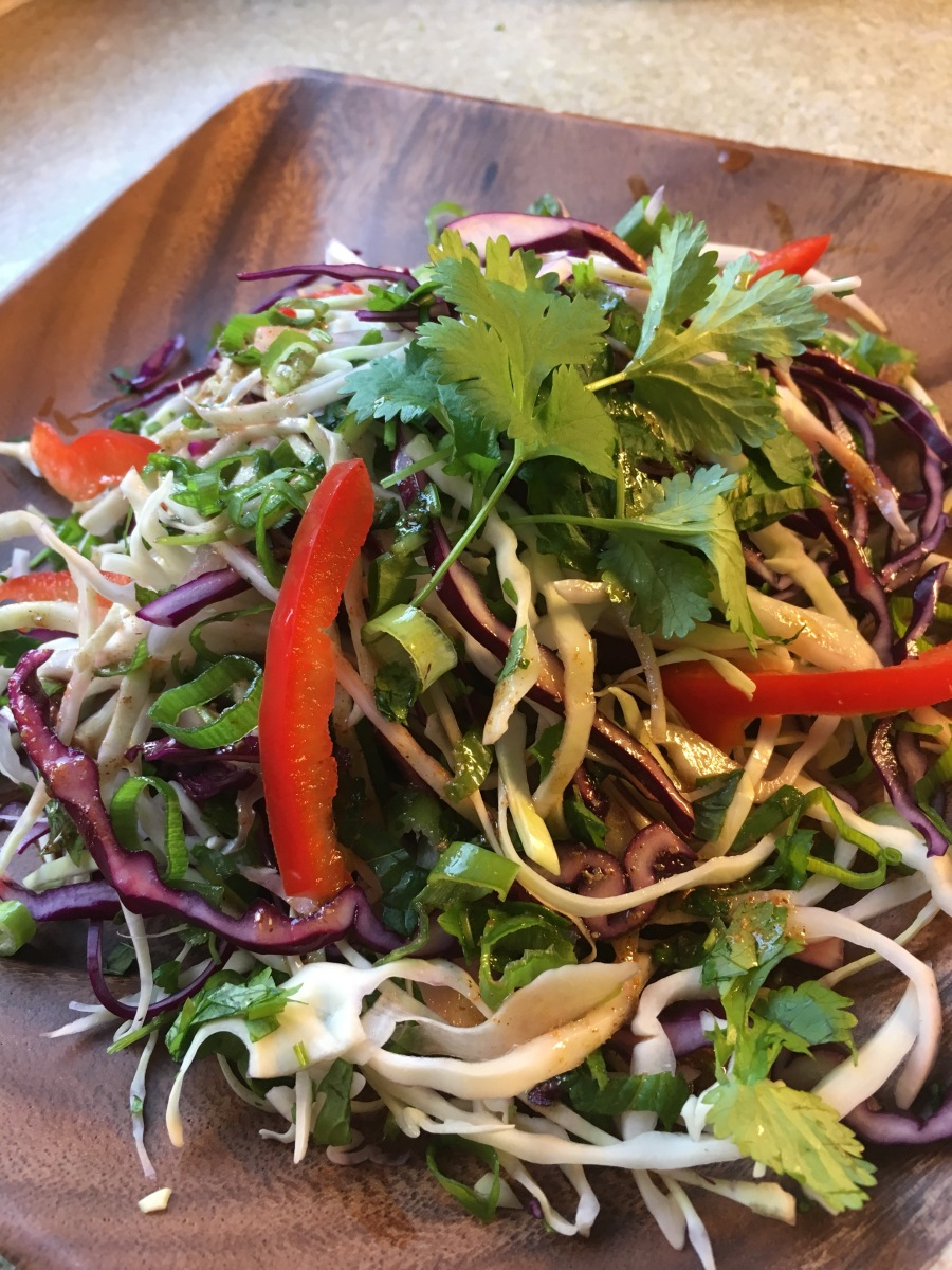 Thai-Indian Cabbage Slaw