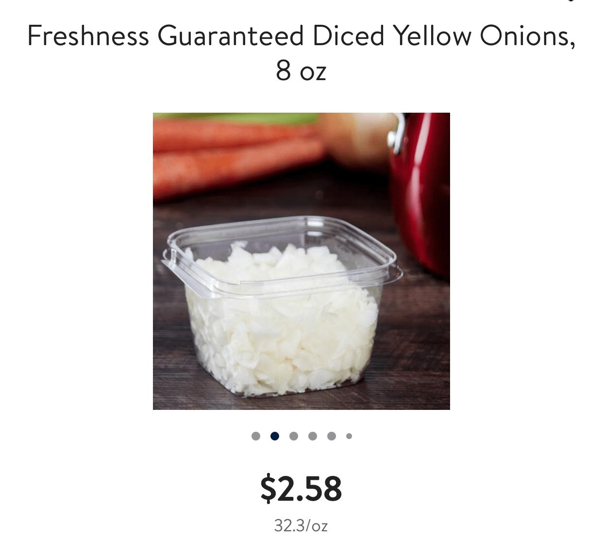 pre chopped onions