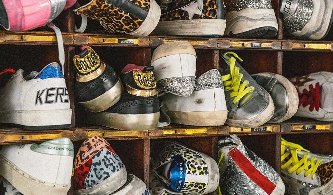 cache of brand new shoes